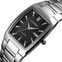 BUMVOR Sport Watches Men Luxury Brand Stainless Steel Strap Army Military Men Watch Clock Male Quartz