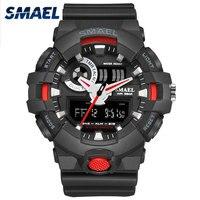 SMAEL Mens Saatler Üst Marka Lüks LED Dijital Moda Dijital erkek İzle Sıcak Saat erkek saat Erkekler Hediye Siyah Kırmızı Saatler 1642