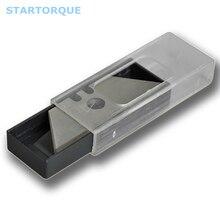 STARTORQUE 5 шт. трапециевидная Mn-сталь для ножей 31*61*18 мм лезвие для резака бумаги скальпель без центрального отверстия