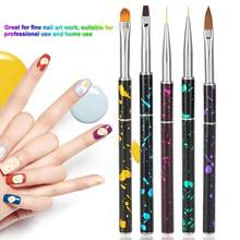 Big Promotion Sale Nail Brush UV Gel Nail Art Pen Brush Drawing Painting Lines Floral Shape Handle Manicure Nails Accessoires(China)