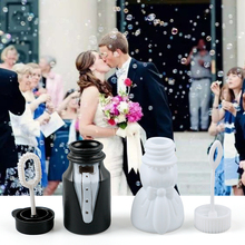 10pcs/lot Bride Groom Empty Bubble Soap Bottles Wedding Gifts For Guests Blower Kids Toys Party Favors souvenir