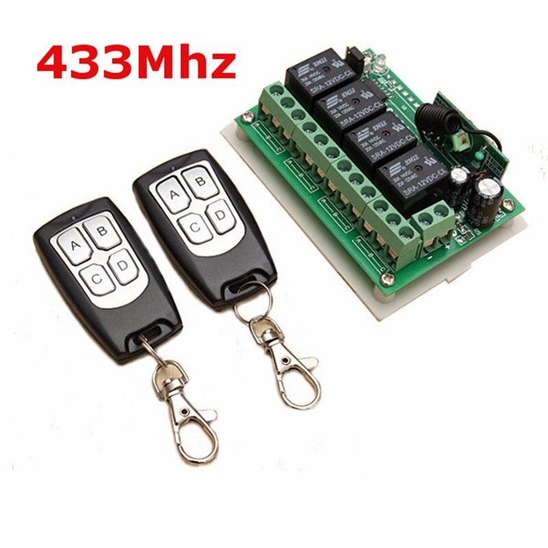 LEORY Universale Senza Fili di Telecomando 12 V 4CH Canale 433 Mhz Interruttore Circuito Integrato 2 Transmitter DIY Sostituire Parte Strumento