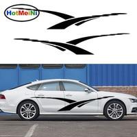 HotMeiNi 2 X Fine Art Cross Stripe High Spirited Car Styling Accessories Car Sticker Stripe JDM for RV SUV Vinyl Decal 13 Colors