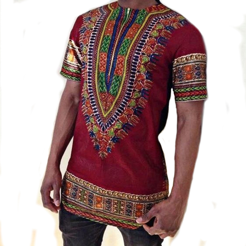 New Arrival 2019 Traditional Ethnic Harajuku African Clothes Print Male Tshirt Long Sleeve Hipster Hip Hop T shirt Men Tops