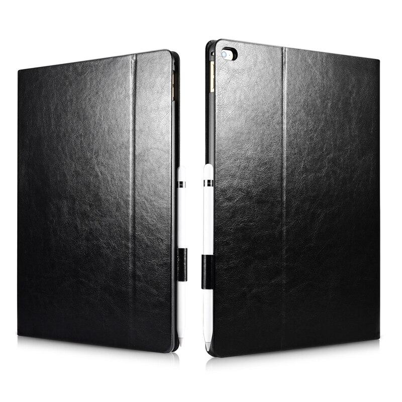 XOOMZ For iPad Pro 12.9 Case Vintage Leather Auto Wake/ Sleep Smart Flip Protective Case For iPad Pro 12.9 2015 2017 Cover Shell leather case flip cover for letv leeco le 2 le 2 pro black