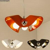 Diseñador colgante luces morden Salón/dormitorio 3 leds E27 cocina hanglamp decoración lamparas de techo bar/tienda lámpara colgante