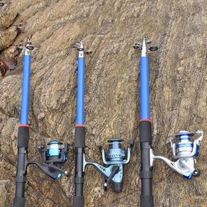 Image 5 - 釣竿 210 センチメートル、 240 センチメートル、 270 センチメートル、 300 センチメートル、 360 センチメートル炭素繊維ロッドスピニング釣竿鋳造旅行ロッド 4 節