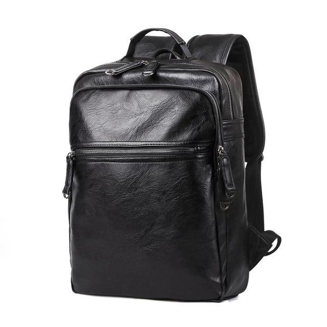 Fashion Backpack Designers Brand Men Laptop Bag Leather Shoulder Bagpack Work Book Man Black Backpacks
