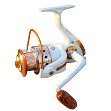 YUMOSHI Brand High quality Fishing reel 13 BB 5.5:1 Gear Ratio Spinning reel Metal main body foot Super strong reel +  Rod Combo