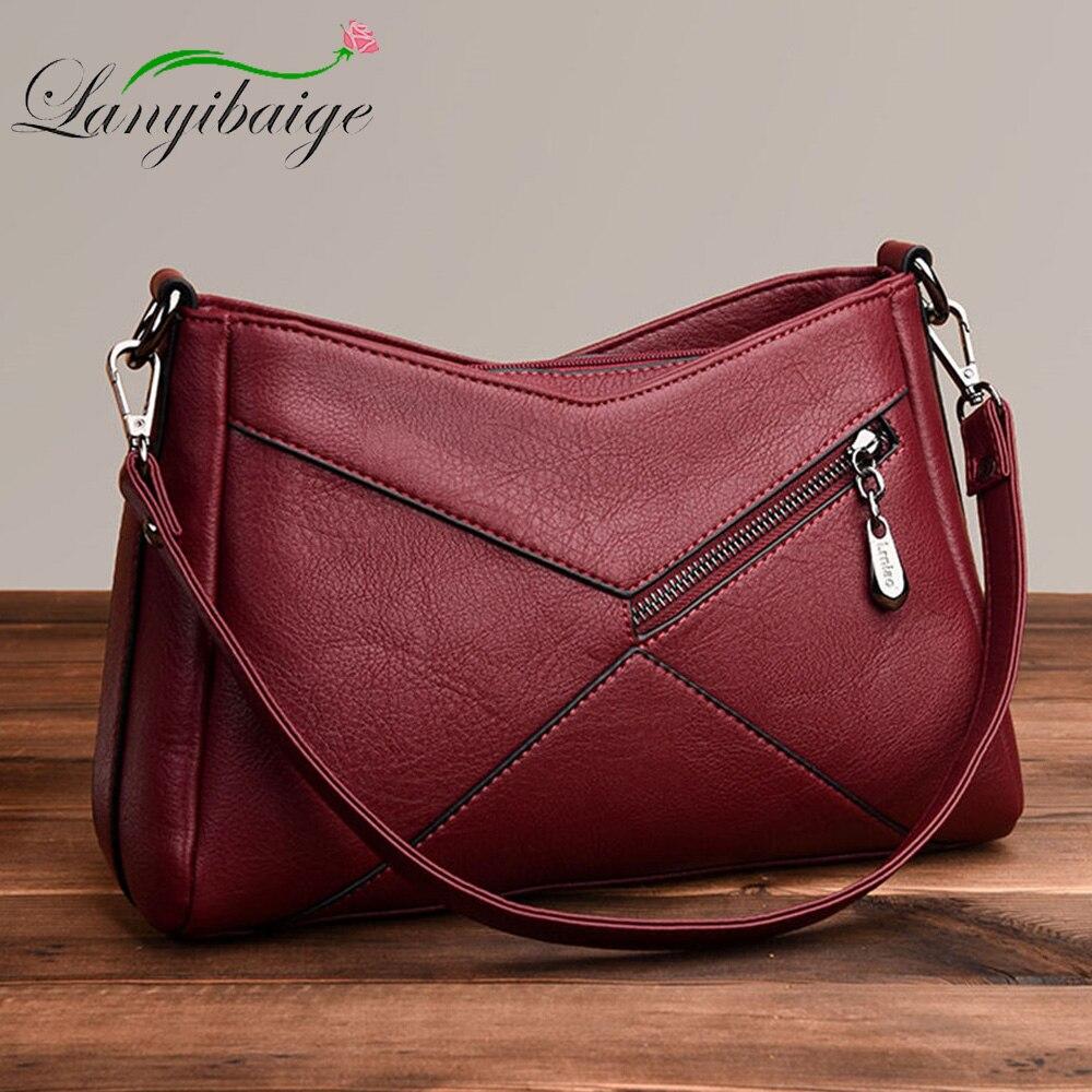 Women Messenger Bags Leather Shoulder Bag 2019 Sac A Main Femme Luxury Handbags Women Bags Designer Crossbody Bag Bolsa Feminina