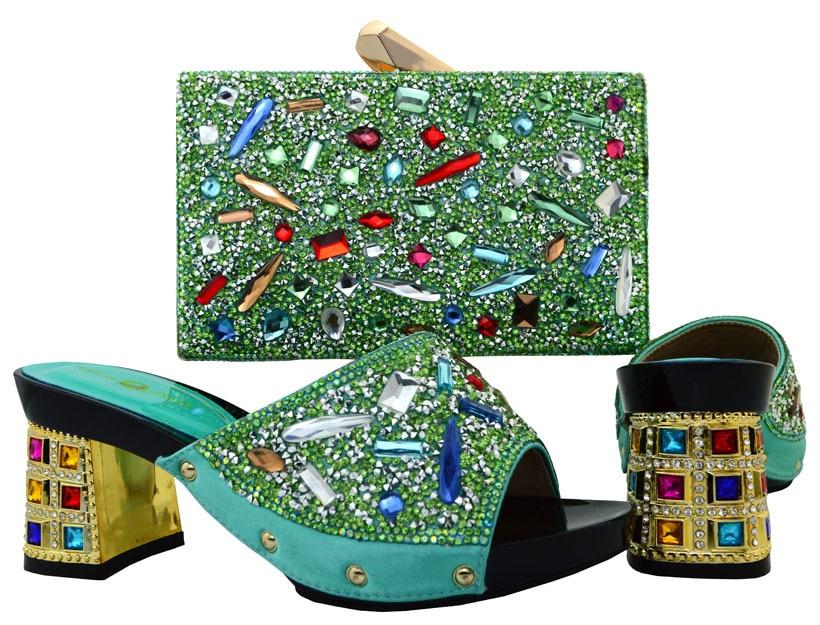 Sacchetto Colorate Gratuita E Sb8016 Acqua Verde Frizioni Spedizione Scarpe Italiane Corrispondenza Alta Molte Pietre Di Qualità Con edBrCox