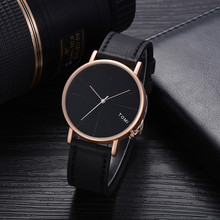 TOMI Fashion Casual Men's Watch Bussines Retro Design PU Lea