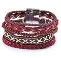 Бразильский Bohemia браслет кожа тканые магнит пряжки ipanema Чешские браслеты для девушку boho браслеты браслет