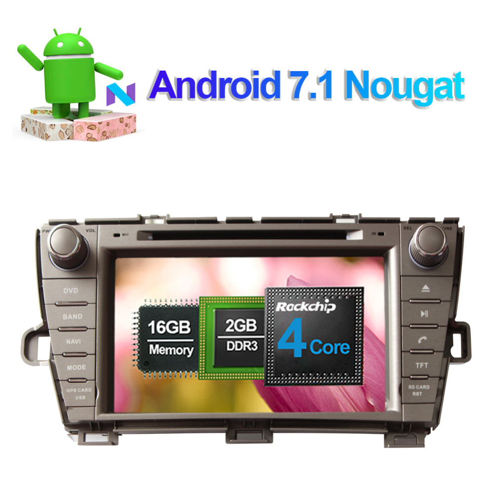Top Android 8.0 Octa Core 4GB RAM Car Radio Stereo GPS Navigation For Toyota Prius 2009- Left Hand Driving DVD Multimedia Player 1