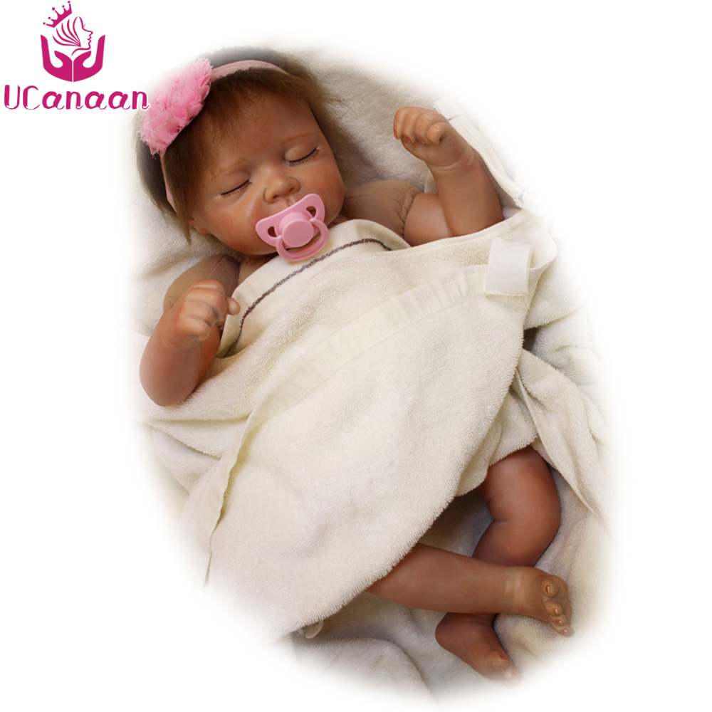 UCanaan 20''/ 50CM Sleep Baby Alive Doll Cloth Boday Silicone Dolls Reborn Baby Born Toys For Children Juguetes For Collection hochitech white 6000k ccfl headlight halo angel demon eyes kit angel eyes light for mustang 2015 2016 2017