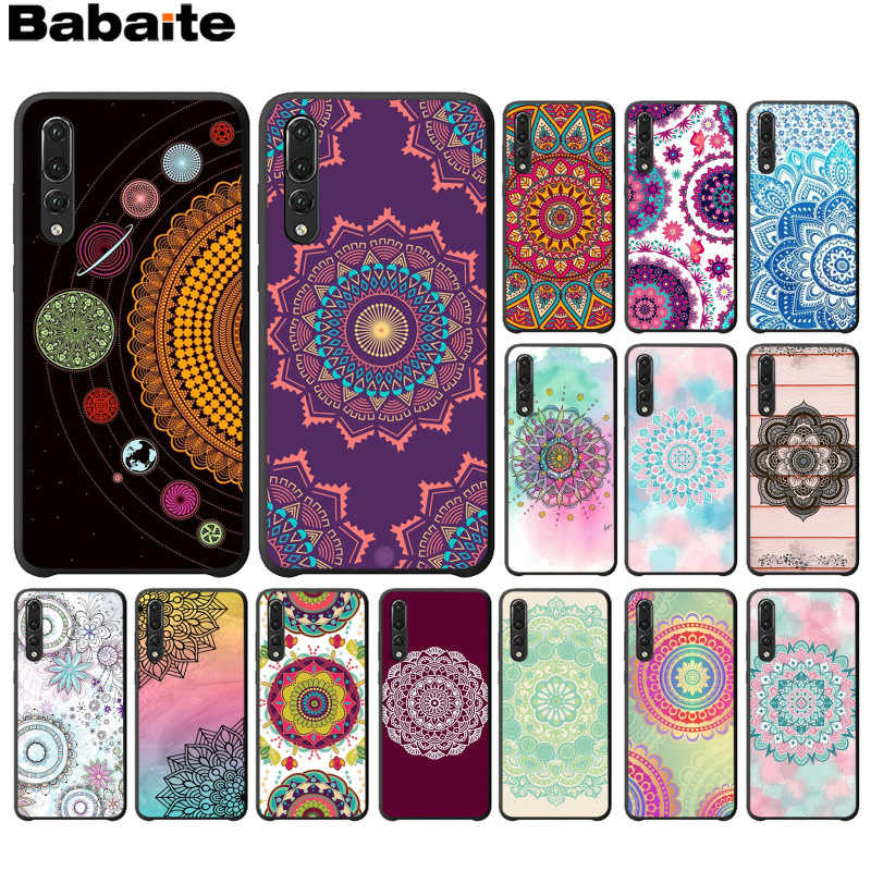 Babaite Blue totem mandala flower Black Soft Shell Phone Cover for Huawei P10 plus 20 pro P20 lite mate9 10 lite honor 10 view10