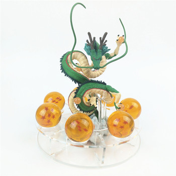 Figuras de Dragon ball Z Shenron bola figuras de ação dragão shenlong Shenlong Dragão + 7 pcs bolas de cristal 3.5 centímetros + 1 prateleira brinquedo