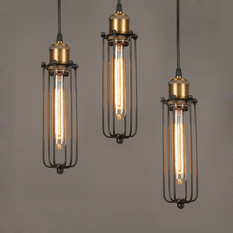 ФОТО Industrial Pendant Lights Vintage Edison Lamps Loft Light Iron lampara colgante de techo Design Lamp Home Lighting Industrial