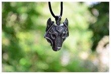 1pcs Norse Vikings Pendant font b Necklace b font Norse Wolf Head font b Necklace b