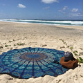 Toalla de Playa de moda Verano Ronda Hippie Mandala Tapiz Chal Playa Bohemio de La Gasa traje de Baño Impreso Túnica de Baño Estera De La Playa