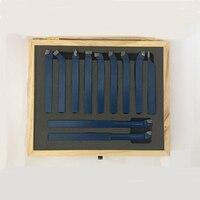 11 pçs carboneto de metal cnc torno ferramentas carboneto soldadas derrubado cortador ferramenta bit conjunto de corte kits soldagem torneamento ferramenta titular 12x12