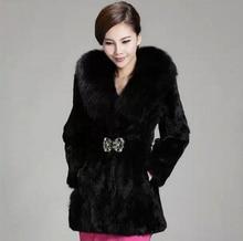 European Style Winter New Fashion Women Fur Coat Sweet Elegant Slim Fur Coat Women Big yards Slim Warm Imitation Fur Coat G1989