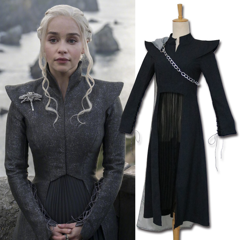 Game of Thrones Cosplay Season 7 Daenerys Targaryen Dress Costume Adult Halloween Carnival Party Cosplay Costume
