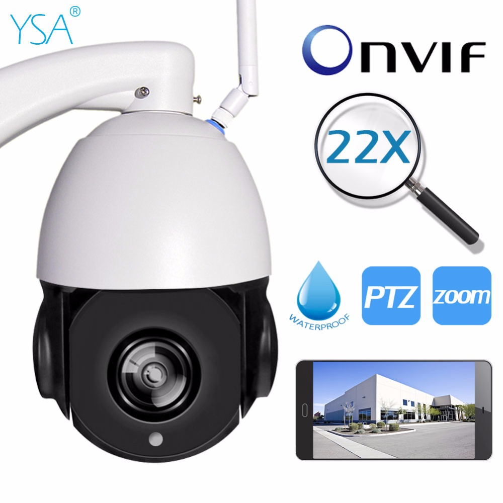 1080 p 960 p Onvif PTZ Wireless IP Camera WI-FI All'aperto 5X Zoom Ottico CCTV di Sicurezza Video di Visione Notturna di IR 150 m IP66 Impermeabile