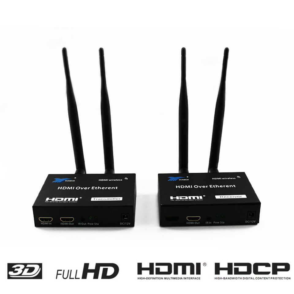 200 M اللاسلكية موسع 2.4 GHz/5 GHz HD 1080 P HDMI 1.3 HDMI موسع جهاز ريسيفر استقبال وإرسال WIFI HDMI موسع