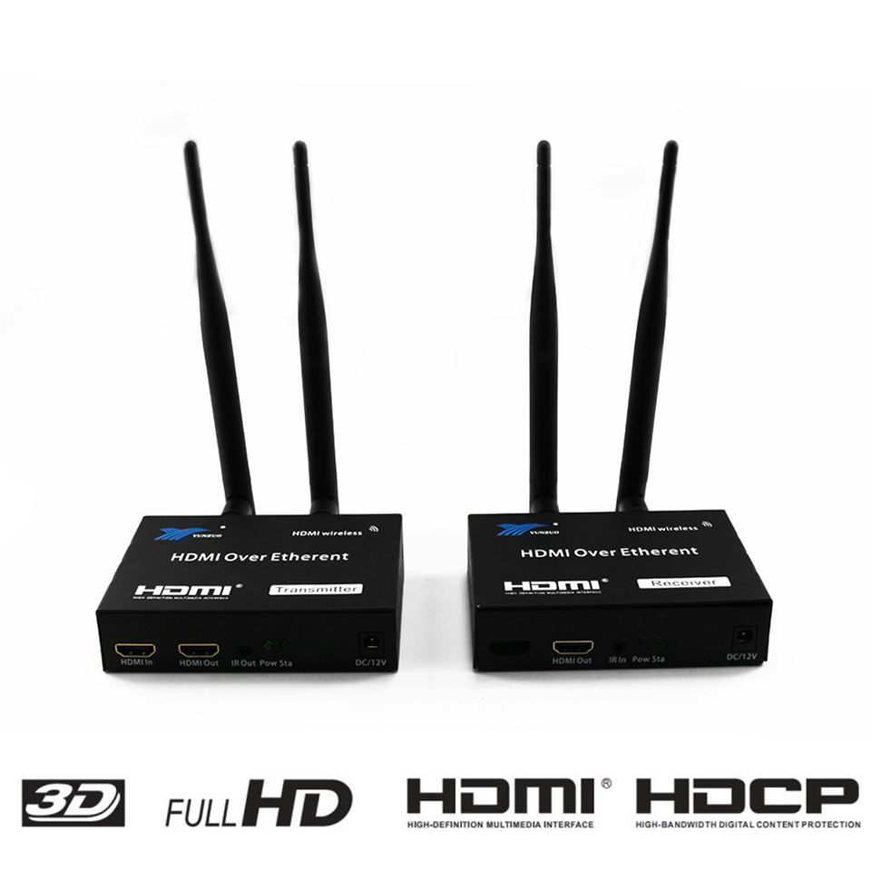 200M Wireless Extender 2.4GHz/5GHz HD 1080P HDMI 1.3 HDMI Extender Transmitter Receiver WIFI HDMI Extender