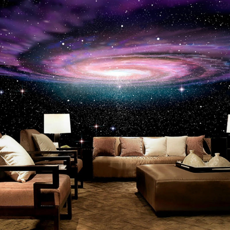 Custom Star sky ceiling 3D wallpaper the living room TV background 3D wallpaper bedroom large mural high definition sky blue sky ceiling murals landscape wallpaper living room bedroom 3d wallpaper for ceiling