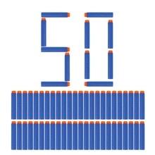 50pcs 8colors Soft Bullet Head Foam Bullets for Nerf N-strike Elite Series 7.2cm*1.3cm