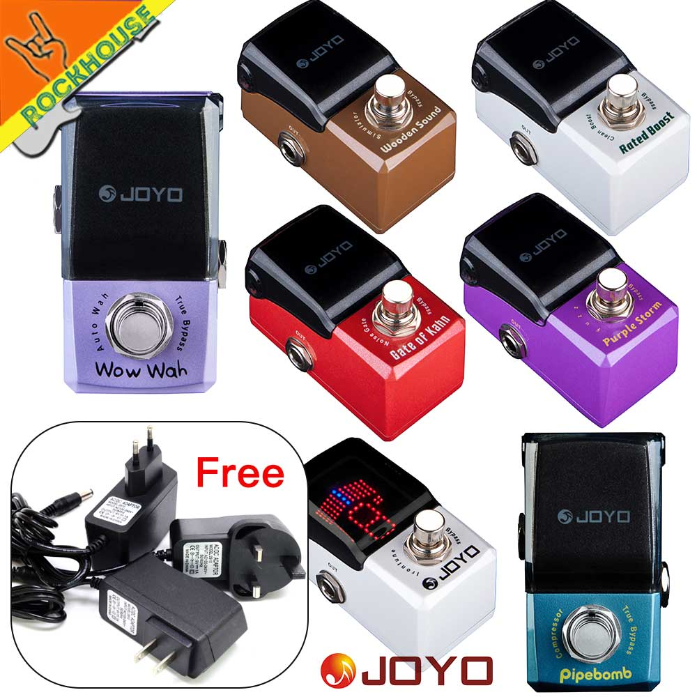 JOYO IRONMAN Guitar Effects Pedal Acoustic Gutiar Simulator Compressor Wah Wah Noise gate Pedal Tuner Analog Fuzz True Bypass diy compressor pedal bass compressor effects pedal stompbox kit true bypass high quality