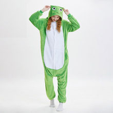 0e26502958 Soft Green Frog Kigurumi For Adult Animal Onesie Men Jumpsuit Carnival  Pajamas For Women Suit Sleepwear Halloween Cosplay Party