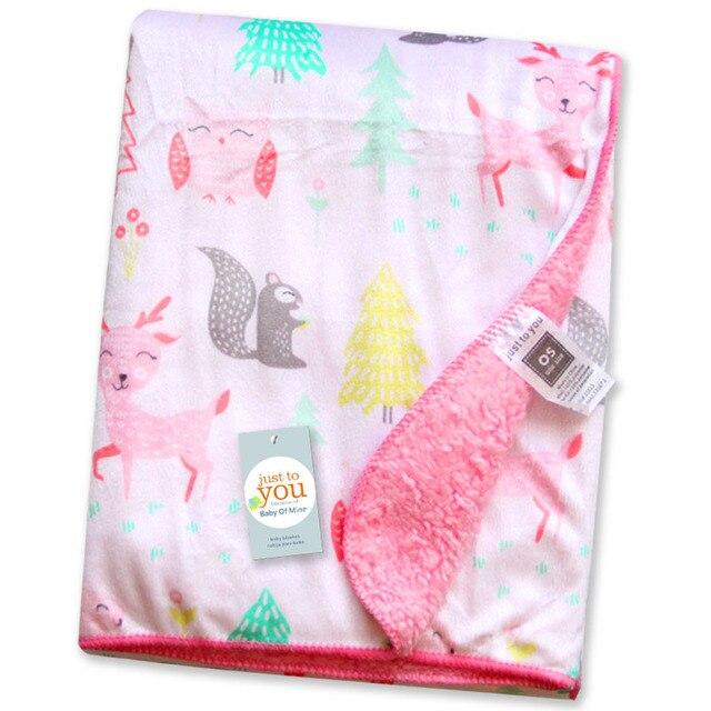 Фото детское одеяло s короткое плюшевое с мультяшными животными стильное