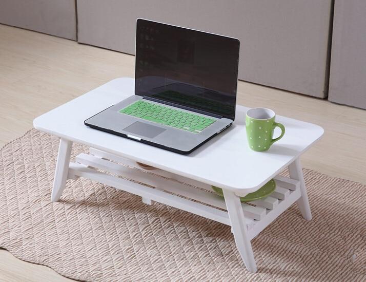 Modern Center Table Folding Leg Rectangle 75cm Living Room Furniture Solid Wood Japanese Coffee 2