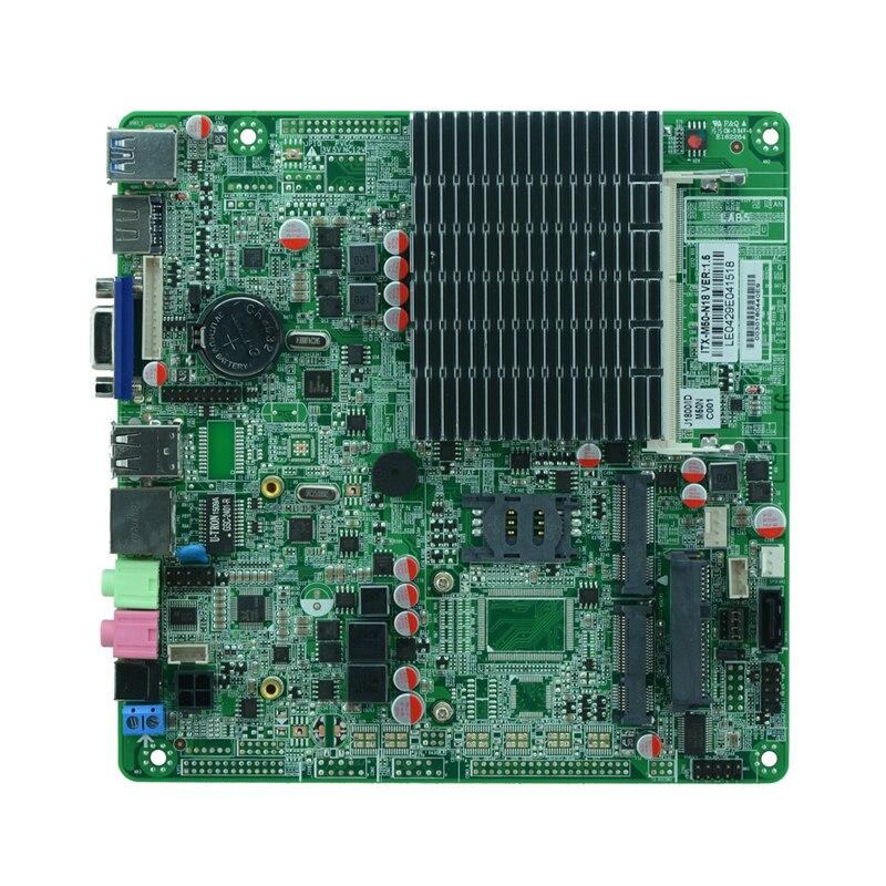 J1800 itx carte mère pour PC et tout en un ordinateur ultra-mince intégré machine sans ventilateur Mini contrôle industriel conseil