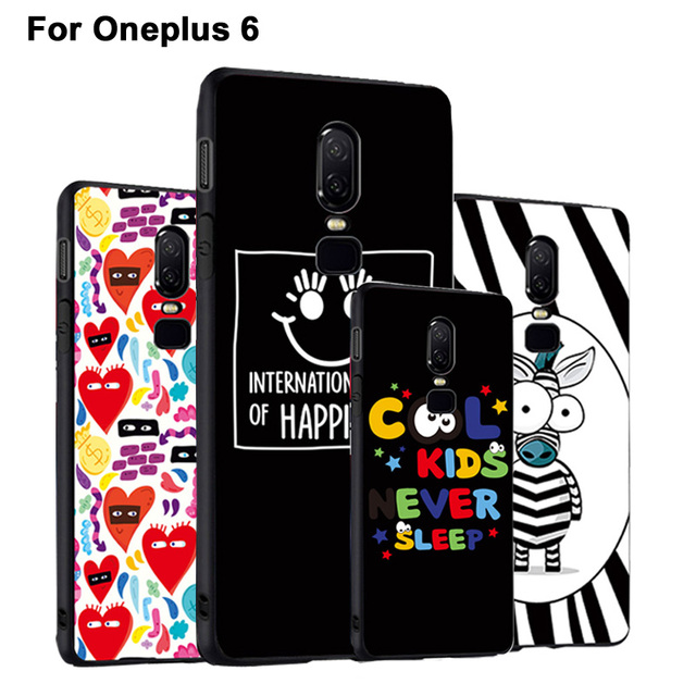 classic fit 484e5 97255 US $4.98  GodGift OnePlus 6 Case Luxury Cartoon 3D Relief One Plus 6 Case  Silicone Cover For OnePlus6 Protection Phone Case Cover-in Fitted Cases  from ...