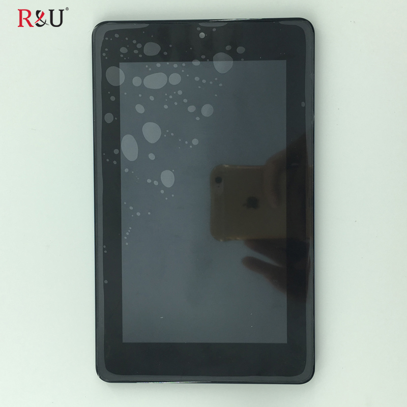 TEST GOOD LCD Display Panel + Touch Screen Digitizer Assembly with frame For Acer Iconia One 7 B1-730 b1 730 r&u test good 7 9inch lcd screen display touch screen panel digitizer assembly replacement part for nokia n1 n1s free shipping