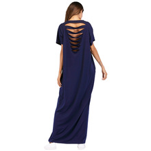 #187053 Hot Sell Euramerica Muslim Women Floral Burn Out Technology Dress Robe Backless Musulman Vestidos Mujer