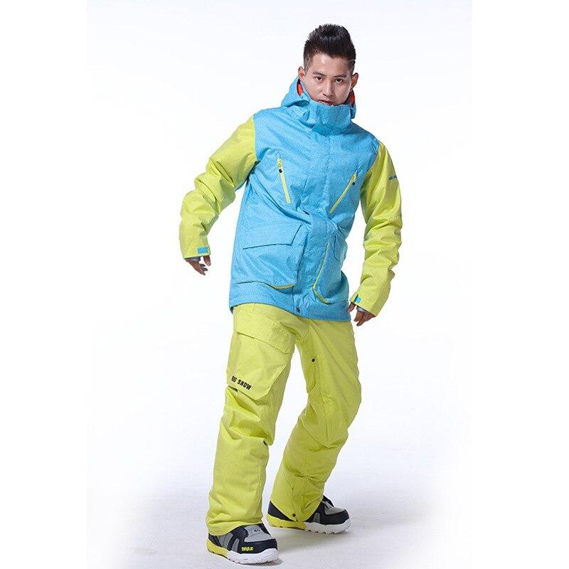 GSOU SNOW veste de Ski homme coupe-vent imperméable veste de Snowboard extérieur chaleur thermique hiver vestes respirant ski costume manteau