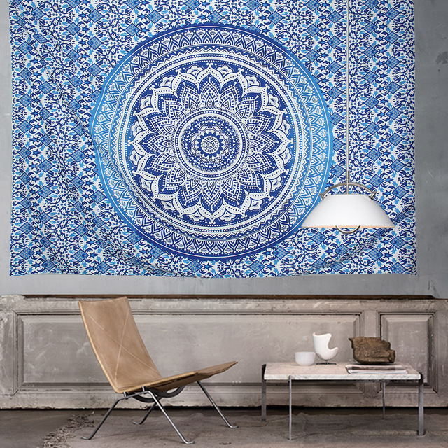 summer Square Mandala Tapestry Hippie Wall Hanging Tapestries Boho Bedspread Beach Towel large Mat Blanket Table Cloth