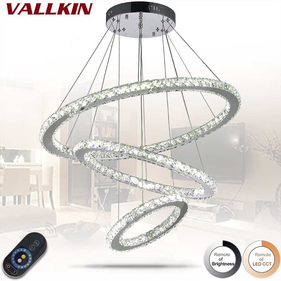 Dimmable LED Crystal Pendant Lamp DIY Creative Restaurant Cord Pendant Lighting Fixtures Contemporary Style Indoor Home Lights