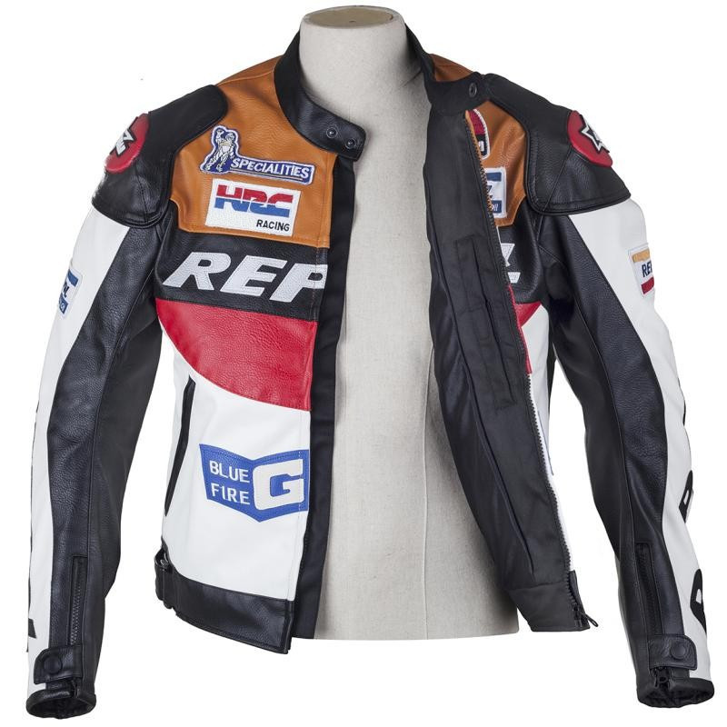 HOT SALE DUHAN motorcycle clothing moto racing suits REPSOL PU leather men motorbike Jacket clothes Spring coat
