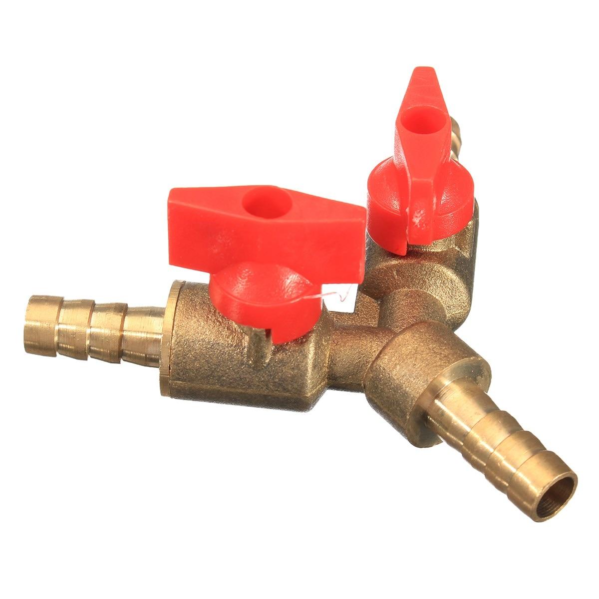 Sanitär Rohre & Armaturen 5/16 8mm Messing Y 3-way Abgeschaltet Kugelhahn Fitting Schlauchstutzen Kraftstoff Gas Klemmschelle T