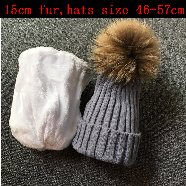 2018   skullies     beanies   for kids fur ball cap winter hats children kids boys girls pom pom   skullies     beanies   for kids pompom hat