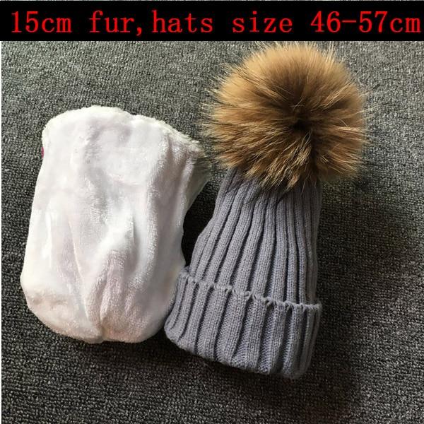 2019 skullies beanies for kids fur ball cap winter hats children kids boys girls pom pom skullies beanies for kids pompom hat