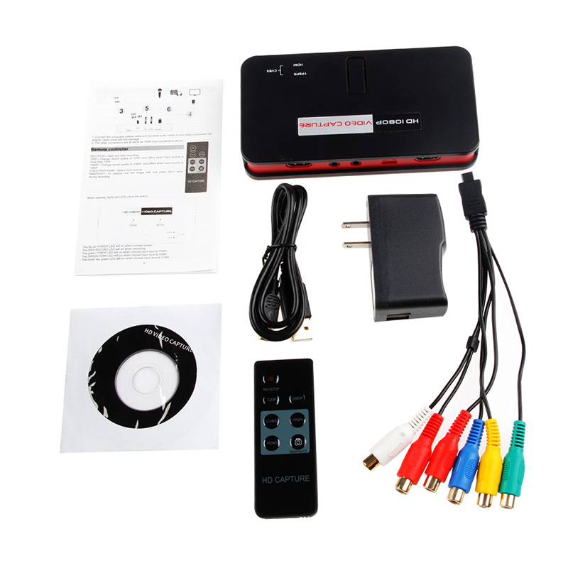 HD Game Video Capture HD video Capture 1080P HDMI/YPbpr Recorder for ps3/ps4