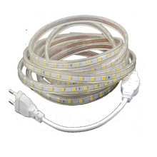 SMD 5050 AC 220V led strip flexible light 5M 10M 15M 20M +Power Plug 60leds/m Waterproof
