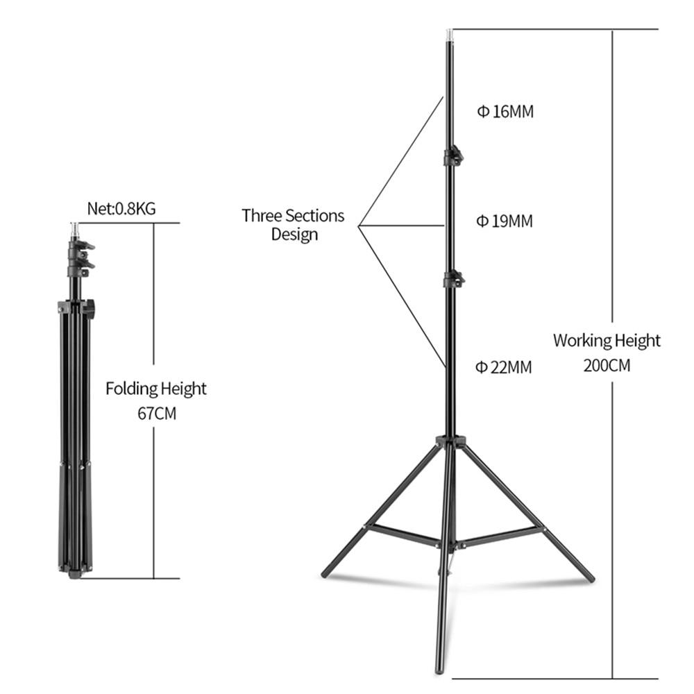 Photography 50x70CM Lighting  Four Lamp Softbox Kit With E27 Base Holder Soft
